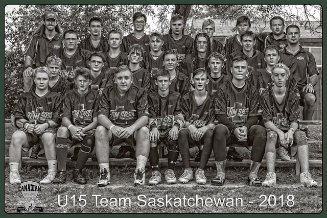 FramedBlack and whiteU15 Sask Team 2018 Lacrosse copy copy copy